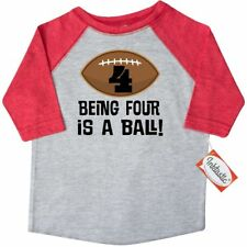 Inktastic 4th Birthday Football Sports Boys Toddler T-Shirt 4 Four Year Old Im