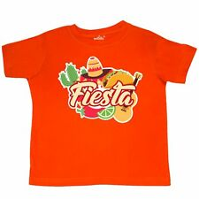 Inktastic Fiesta With Sombrero Taco Cactus Lime Red Pepper And Toddler T-Shirt 5
