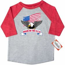 Inktastic American Flag Made In The USA With Bald Eagle Toddler T-Shirt America