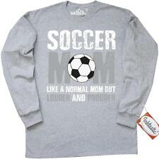 Inktastic Soccer Mom Like A Normal Mom But Louder And Long Sleeve T-Shirt Mother