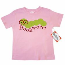 Inktastic Smiling Bookworm Toddler T-Shirt Reading Read Books Book Worm Lover