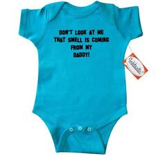 Inktastic Don't Look At Me That Smell Is C Infant Creeper Daddy Funny Baby Poo