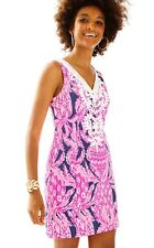NWT LILLY PULITZER Gabby Shift Dress Bright Navy Coco Safari Size 4