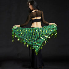 Women Belly Dance Costumes Skirt Sequins triangle Hip Scarf Wrap Belt