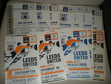 LEEDS UNITED FOOTBALL PROGRAMMES HOME GAMES 1966 - 1970 Select the One you Want