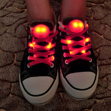 LED Shoelaces Luminous Flashing Shoe Lace Disco Party Light Up Glow Strap 1 Pair