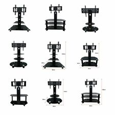 "30""-60"" Plasma LCD LED TV Glass Stand Black TV Rack Mount & 2/3 Shelve Bracket N"