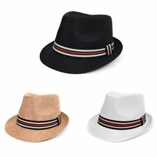 Spring Summer Trilby Fedora Hat with Multi Color Band (FSS17127)
