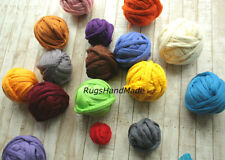 Arm Knitting Super Chunky Wool Yarn 100% Wool Bulky Merino Roving Weaving