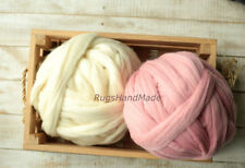 1.1 lbs Arm Knitting Chunky Wool Yarn 100% Wool Bulky Merino Roving Weaving