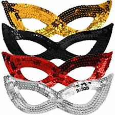 Ladies Girls Sequin Masquerade Cat Eye Mask Carnival Party Fancy Dress Accessory