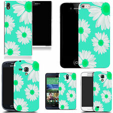 pictoral case cover for most Popular Mobile phones - aqua daisy
