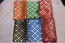 New Banarasi Silk Wedding Dupatta Women Full Scarfs Bridesmaid Stoles