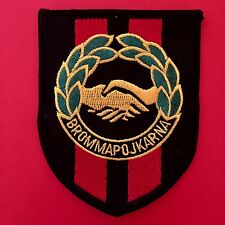 SWEDEN, Brommapojkarna Football Club, Crest Patch, Iron on, unused