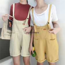 Fashion Women Girl Wide Leg Shorts Jumpsuits Rompers Casual Overalls Short Pants