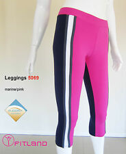 Womens Gym Pants, activewear, long, blue, pink, Fitland, size 8, 10, 12, S, M, L