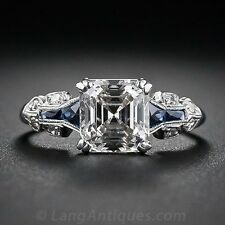 2.45ct White Topaz Vintage Jewelry 925 Silver Wedding Engagement Ring Size 6-10