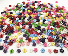Mini Flowers Resin Buttons sewing scrapbooking Handicrafts Mixed Colors 7mm