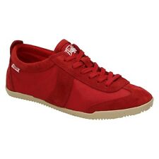 Buffalo Ladies Shoes Suede Trainers Low Shoes Leisure Lace up RED (RED)