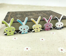 Wooden Long ear rabbit buttons Sewing animal buttons Scrapbooking 33mm