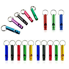 Ultra Loud Aluminum Emergency Survival Distress Whistle For Camping Hiking BF
