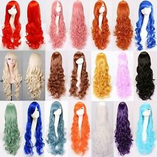 2017 Fashion Women Girl Long Curls Wig Animation Cosplay Coustum Casual 80CM OB