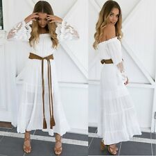 Women Chiffon Summer Boho Long Maxi Dress Evening Cocktail Party Beach Sundress
