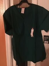 Scrubs Dickies EDS Empire Waist Top 815906 Hunter SIZE LARGE FREE SHIPPING!