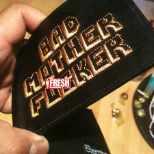 BLACK Original BMF® Wallet BAD MOTHER F*CKER Embroidery LEATHER BEST Quality NEW