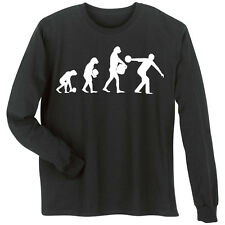 Evolution Of Sport Bowling Long Sleeve T-Shirt