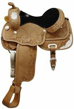 """CircleS 13"""", 14"""", 15"""", 16""""Fully tooled Circle S show saddle with full Quarter"""