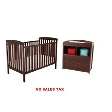 Crib and Dresser/Changing Table Set. Baby Bed, Nursery Furniture NEW