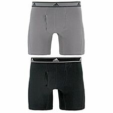 Agron Underwear 975607 adidas Mens Relaxed Performance Stretch Cotton Boxer