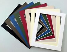 """8 x 6"""" Cardboard Photo/Picture MOUNTS - Choice of colours & cut out sizes"""