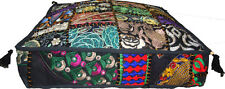 INDIAN MULTI PATCH WORK EMBROIDER CUSHION OTTOMAN/FLOOR/SOFA SQUARE SEAT COVER