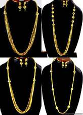 Necklace Earrings Jewelry sets Ball Mala Gold Plated Bollywood Designer Fashions