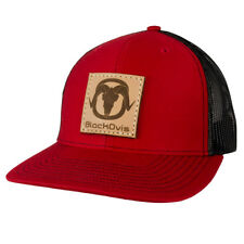 BlackOvis Leather Meshback Trucker Cap