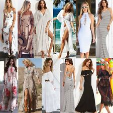 Women Summer Boho Long Maxi Dress Evening Cocktail Party Casual Beach Sundress