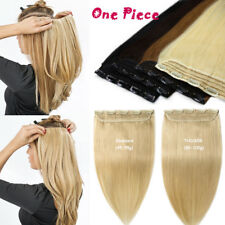 Highlight One Piece Clip in Remy Human Hair Extensions 3/4Full Head 100G US B426