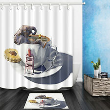 Elephant in the Cup Waterproof fabric-shower-curtain High Quality Bathroom Set