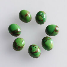 Green Copper Turquoise 14x10MM Oval Shape, Calibrated Cabochons AG-213