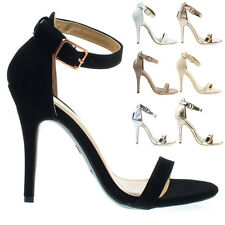 GirlTalk11m High Heel Stiletto Dress Sandal w Ankle Strap. Women Party Club Shoe