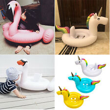 Inflatable Kids Swim Ring Flamingo Unicorn Baby Swimming Pool Toy Float Raft Fun