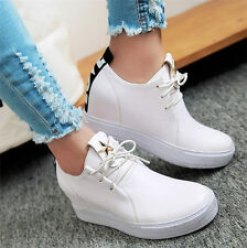 Womens Shoes Fashion Sneakers Lace Up Sport Wedge Ankle Boots Oxfords Casual