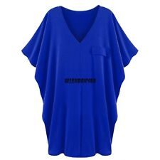 Meaneor Stylish Ladies Women Casual V-neck Loose Bat Sleeve Blouse Tops IXH401