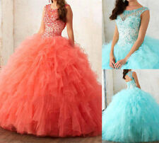 New Beads Quinceanera Dress Formal Prom Party Pageant Cocktail Ball Bridal Gown