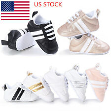 Baby Boys Girl Unisex Kids Crib Shoes 0-18M Infant Toddler Trainer Lace Up Shoes