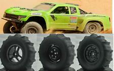 "(4)100mm Beach Wheels Tires 1.9"" Axial SCX10 SMT10 Yeti RR10 Wraith Jeep Crawler"