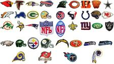 NFL, National Football league team logo patches. Embroidered iron on patch.