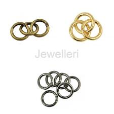 6Pcs 28mm Alloy Circle Round Carabiner Spring Snap Clip Hook Keychain Hiking